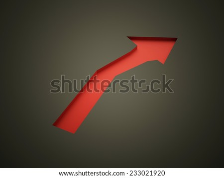 Red arrow business concept rendered on black background - stock photo