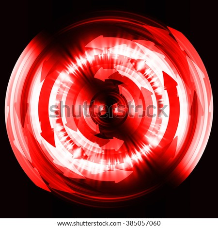 red arrow Circle wave illustration of technology internet network computer background with binary number, style. infographics. Information. motion blur. pixel. Binary digit. number. web wabsite tech - stock photo