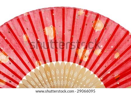 red asian fan - stock photo