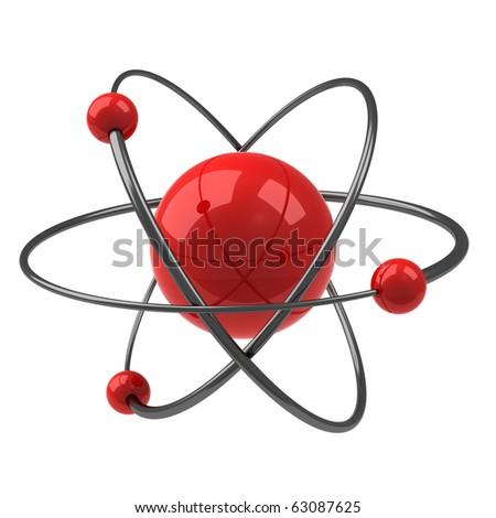 Red Atom - stock photo