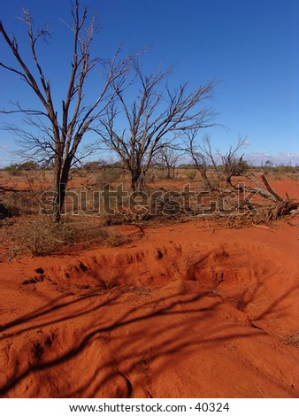 red australia desert - stock photo