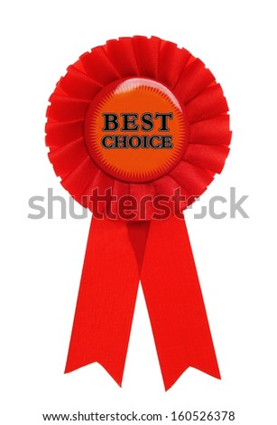 red award with the text best choice on it - stock photo