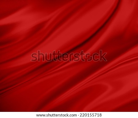 red background abstract cloth or liquid wave illustration of wavy folds, silk texture or satin satin material - stock photo
