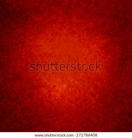 Red background. Christmas background. Black grunge textured border. - stock photo