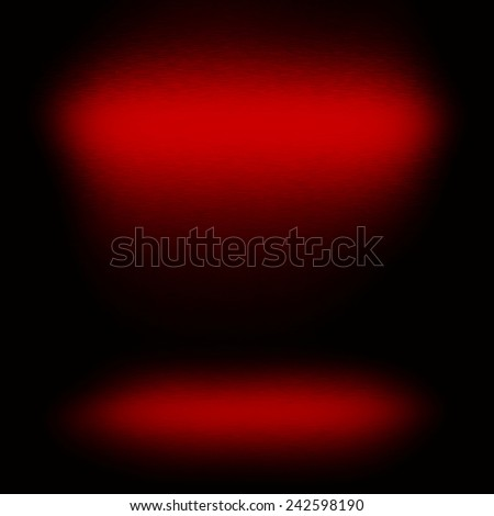 red background metal texture and abstract spotlights for design or concept presentation - stock photo