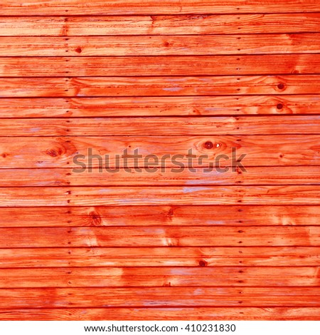 red background weathered wood texture - stock photo