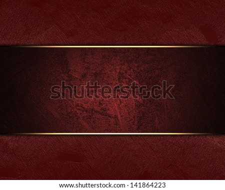 Red Background With Abstract Elegant Black And Grunge Scratch Texture Ribbon Design Layout Highlight