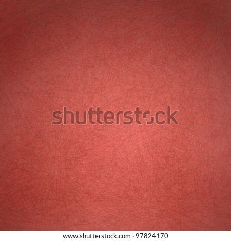 red background with old faded vintage grunge texture with darker edges on frame and bright center highlight for valentine's day text or Christmas backdrop - stock photo