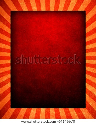 red background with stripe pattern frame - stock photo