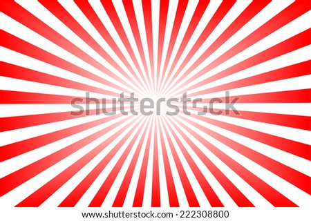 Red background with sun rays. - stock photo