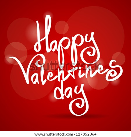 Red background with text. Theme of Valentines Day - stock photo
