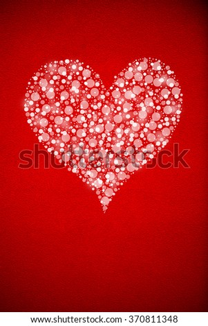 Red background with the white heart.