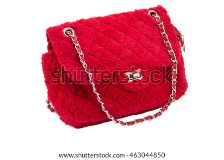 red  bag isolate on white background