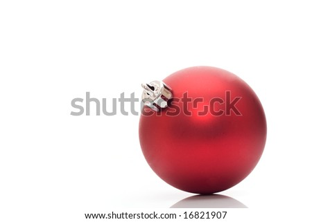 Red ball - Christmas decoration - stock photo