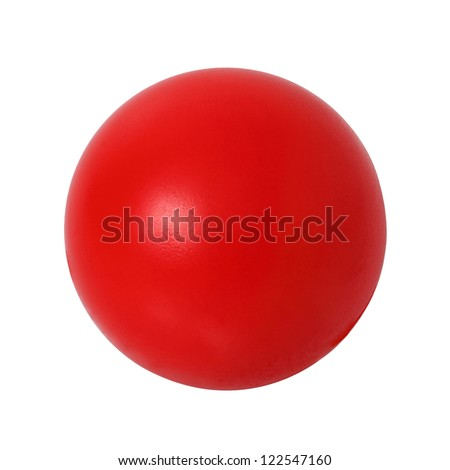 Red  ball on white background. Outline paths for easy outlining. Great for templates, icon background, interface buttons. - stock photo