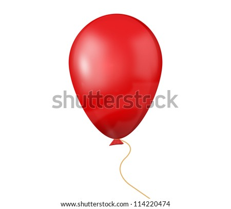 Red balloon - stock photo