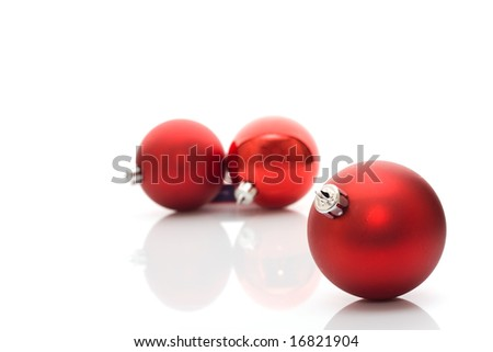 Red balls - Christmas decoration