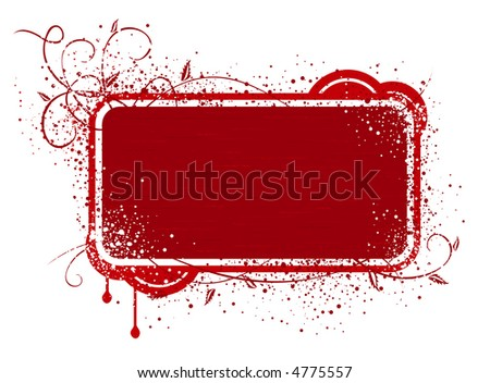 Red banner / frame(vector file is also in gallery)