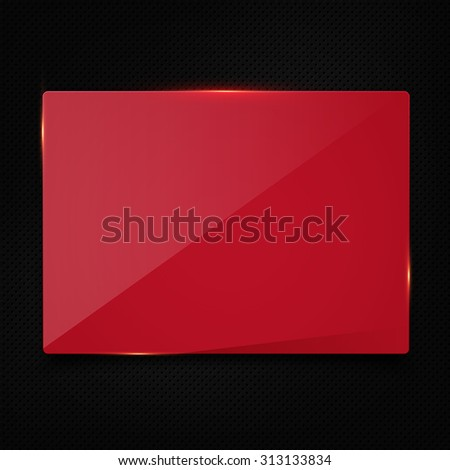 Red banner on carbon background