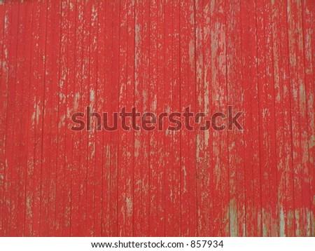 RED BARN SIDING - stock photo