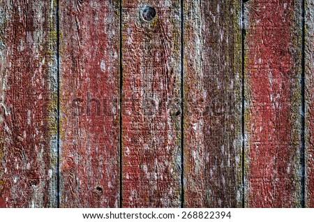 Red Barnwood - stock photo