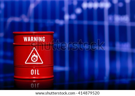 red barrel oil  - stock photo