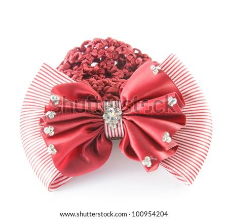 Red barrette - stock photo