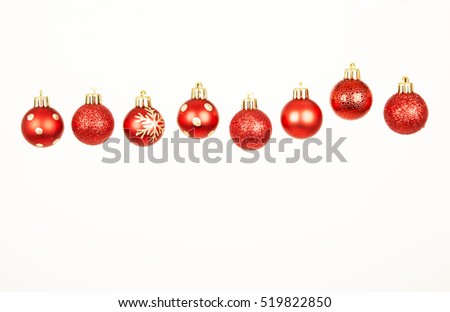 red baubles , christmas decorations ,december, red , glitter, white, background ,winter ,ornaments