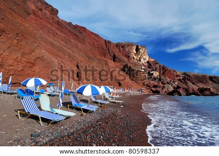 Red Beach is one of the most beautiful and famous beaches of Santorini. Greece