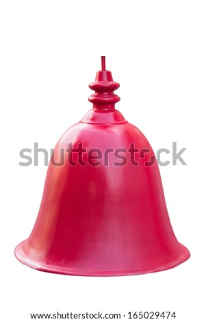 red bell  isolated on white.  - stock photo