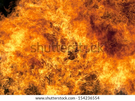 Red blaze fire flame texture background heat. - stock photo