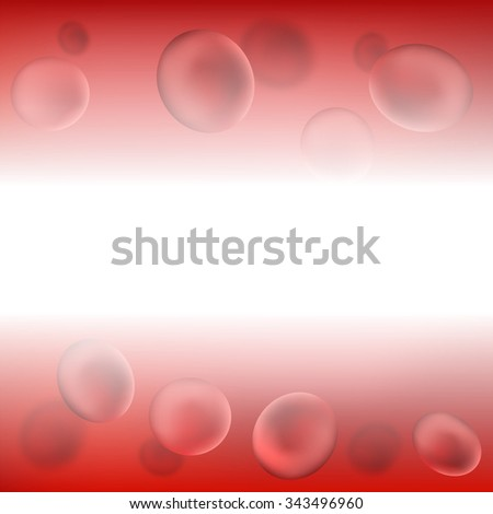 Red Blood Background. Red Blood Cells. Medical Background - stock photo