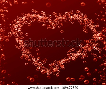 Red blood cells on a dark background with some shades - stock photo