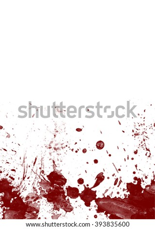 Red blood splatters on white background