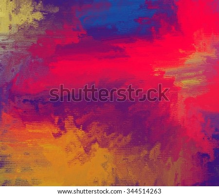 red blue yellow abstract digital painting stock illustration