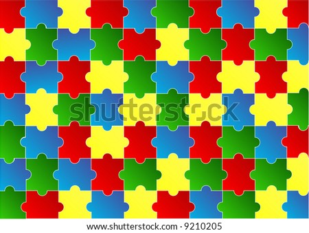 red blue green and yellow jigsaw puzzle