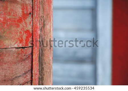 red blue wood background - stock photo