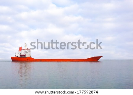 red boat - stock photo