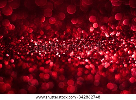 Red bokeh abstract background - stock photo