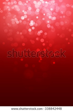 Red bokeh abstract glow light backgrounds - stock photo