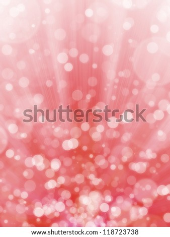 Red bokeh abstract light background - stock photo