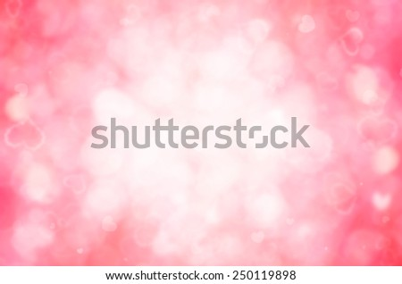 red  bokeh and heart abstract background.  - stock photo