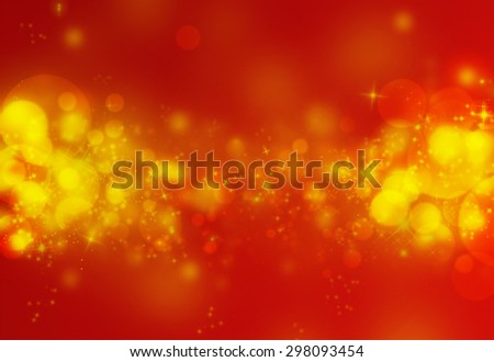 Red bokeh glitter defocused lights abstract background - stock photo
