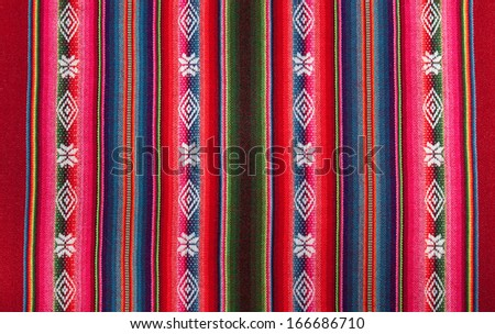 Red bolivian pattern - stock photo