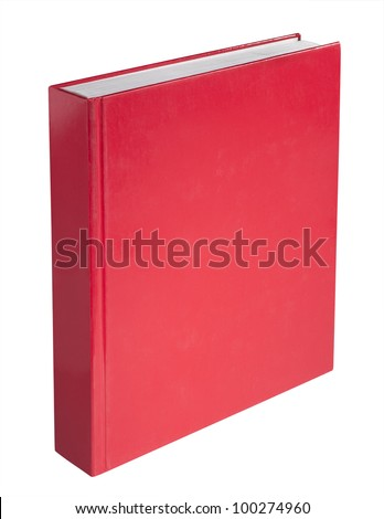 Red book, isolated - stock photo