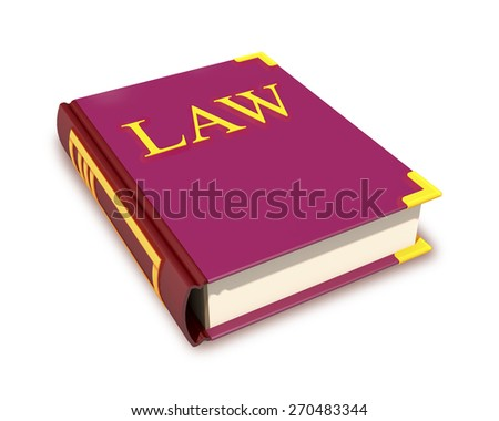 Red book of laws with gold title. - stock photo