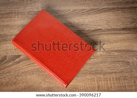 Red book on the table