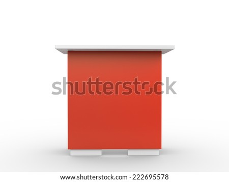 red booth or table from fromt - stock photo