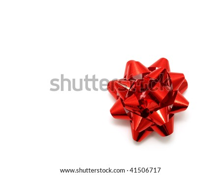 Red Bow - stock photo