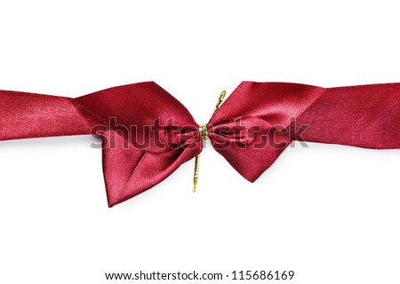 red bow and ribbon isolated on white background